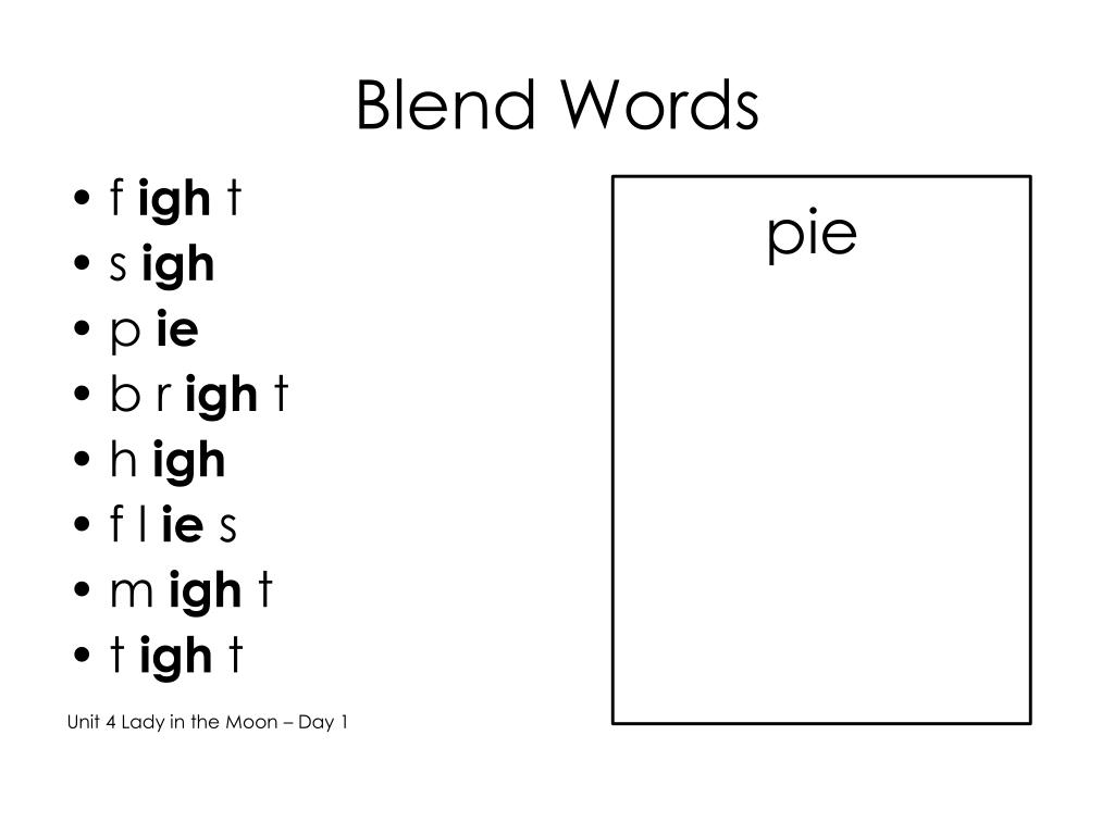 Blend Words