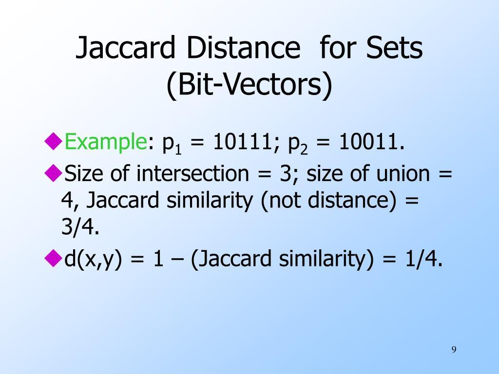 Jaccard Distance
