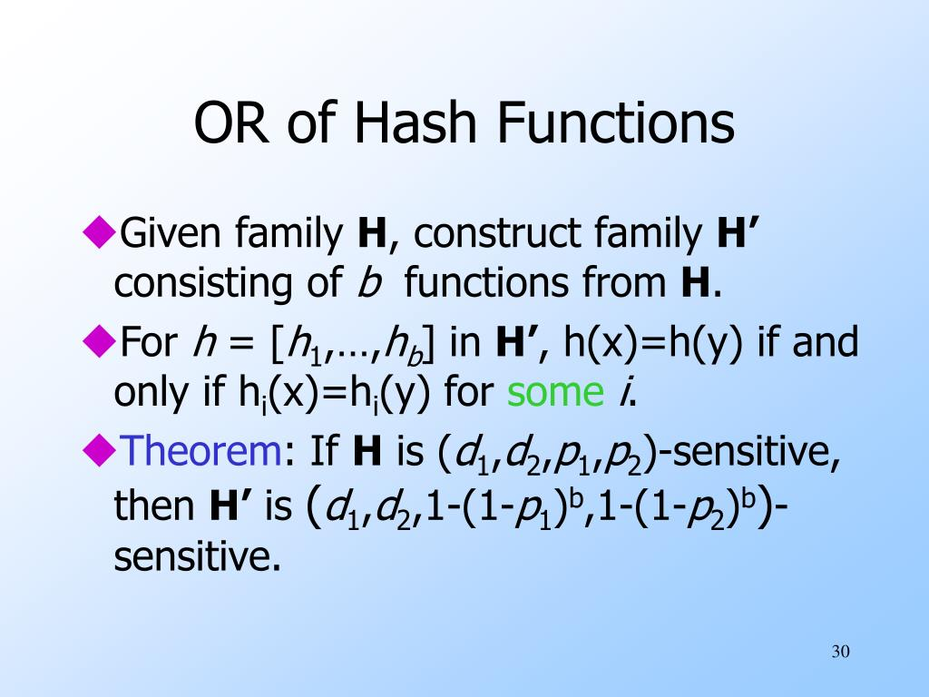 OR of Hash Functions
