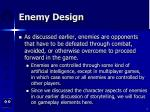 enemy design