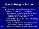 how to design a puzzle80