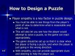 how to design a puzzle82