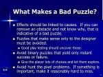 what makes a bad puzzle75
