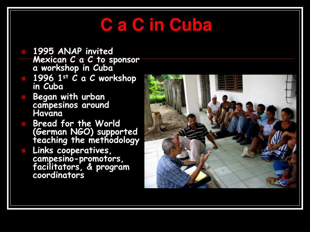 C a C in Cuba