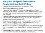 maryland hospital preventable readmissions draft policy16
