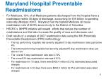 maryland hospital preventable readmissions
