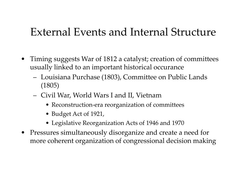 External Events and Internal Structure