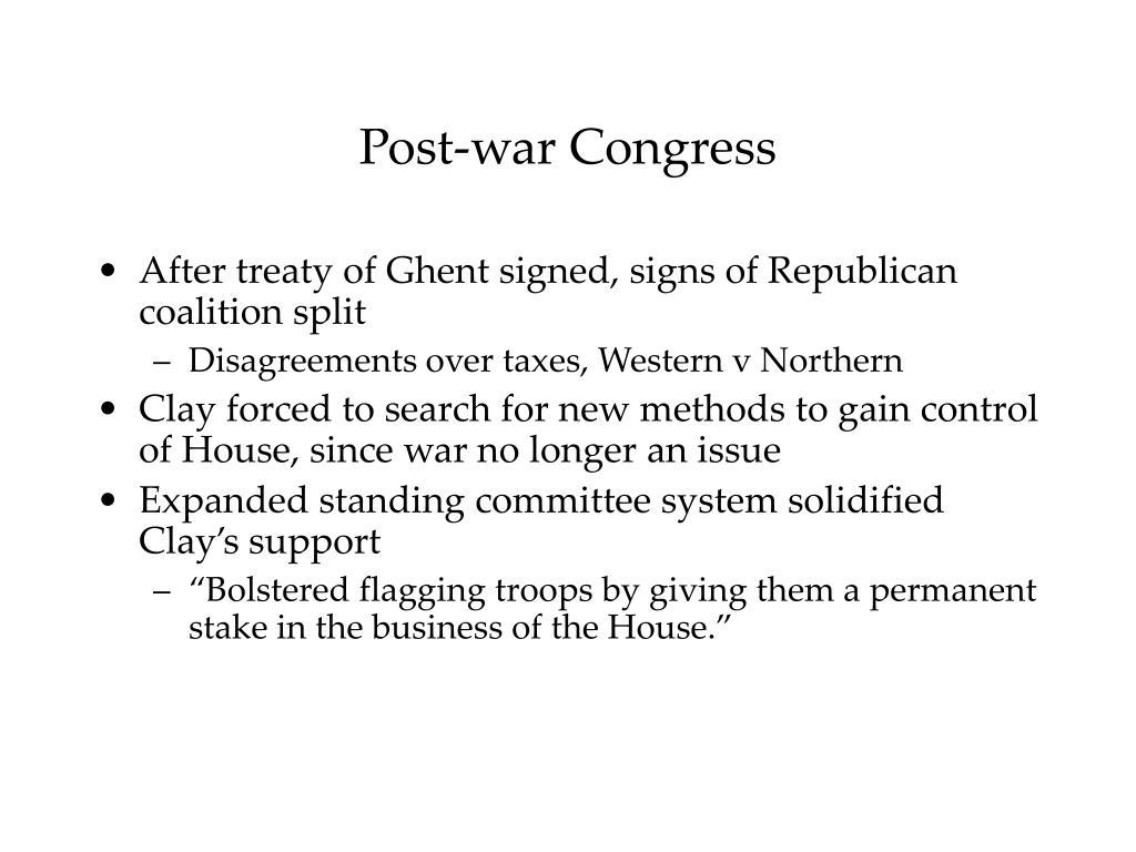 Post-war Congress