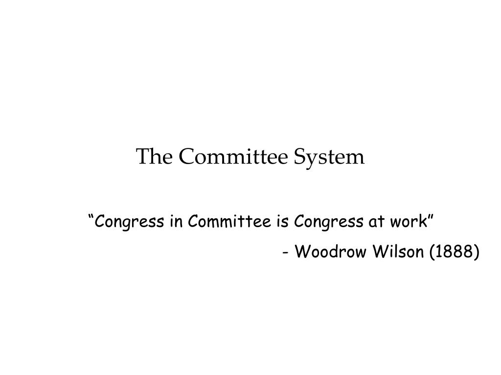 The Committee System
