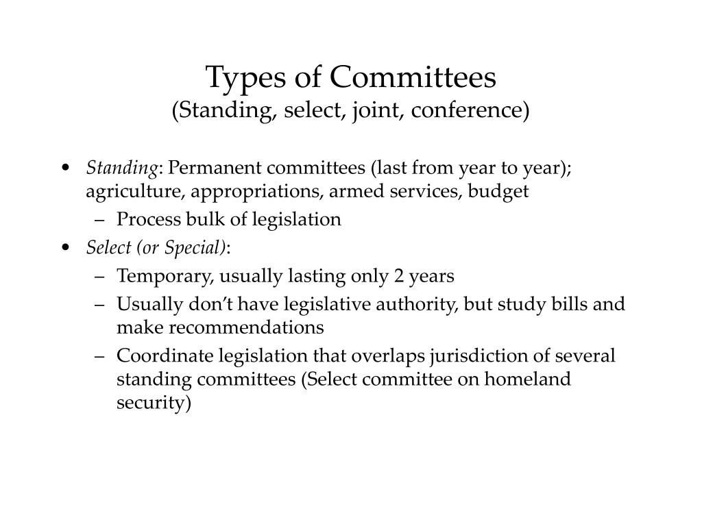PPT - The Committee System PowerPoint Presentation, free ...