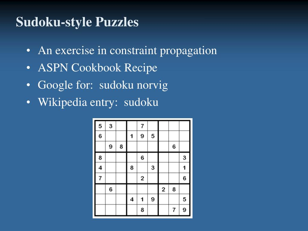 Sudoku-style Puzzles
