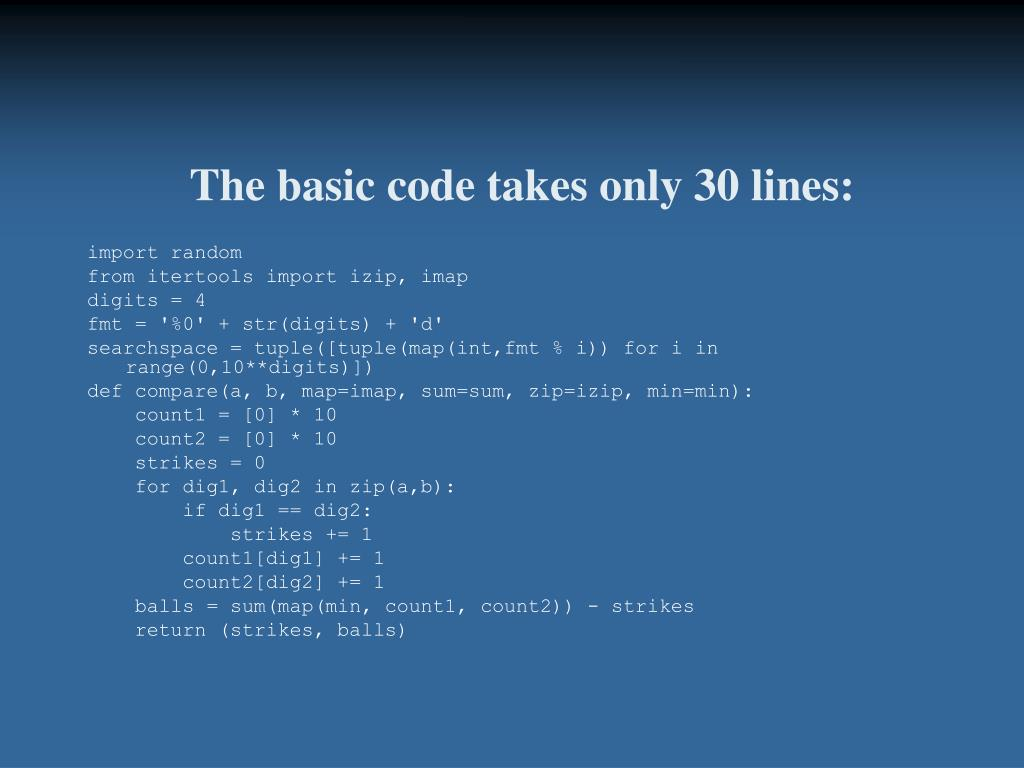 The basic code takes only 30 lines: