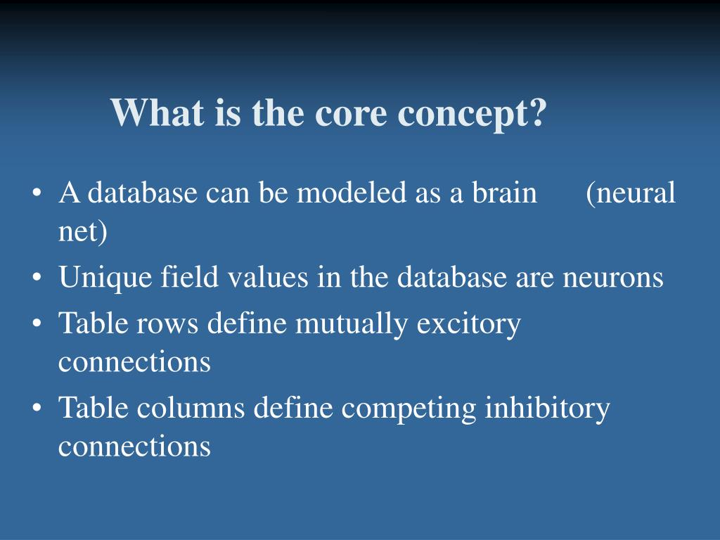 What is the core concept?