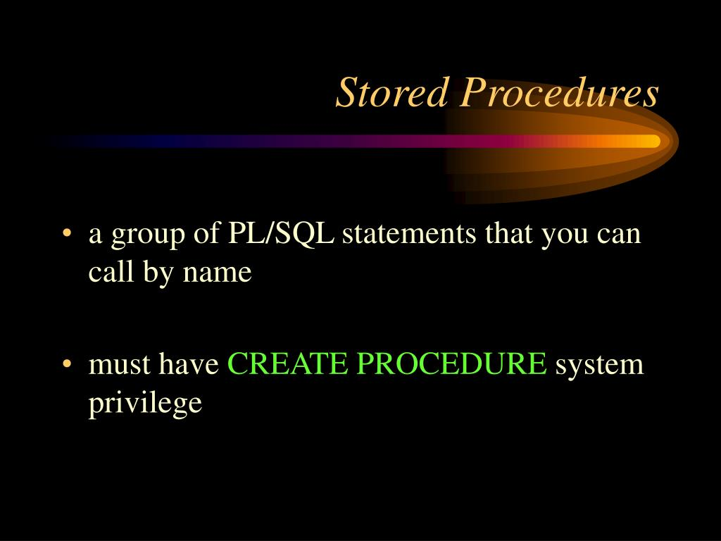 Stored Procedures