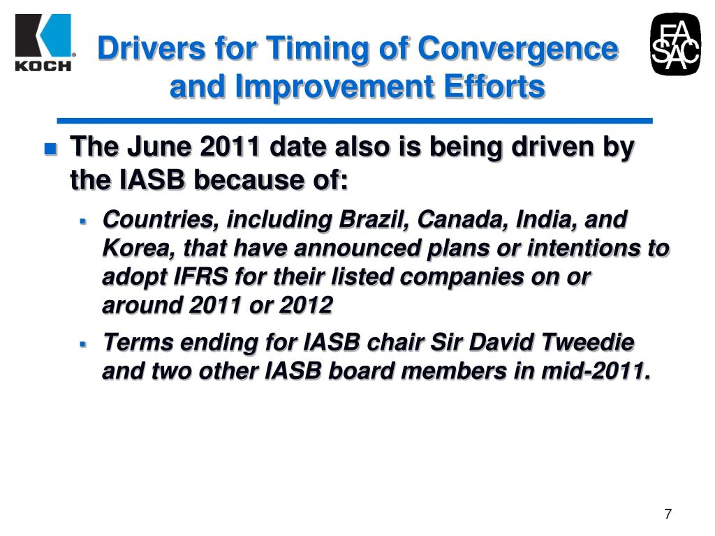 Drivers for Timing of Convergence