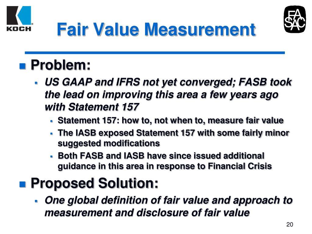 Fair Value Measurement