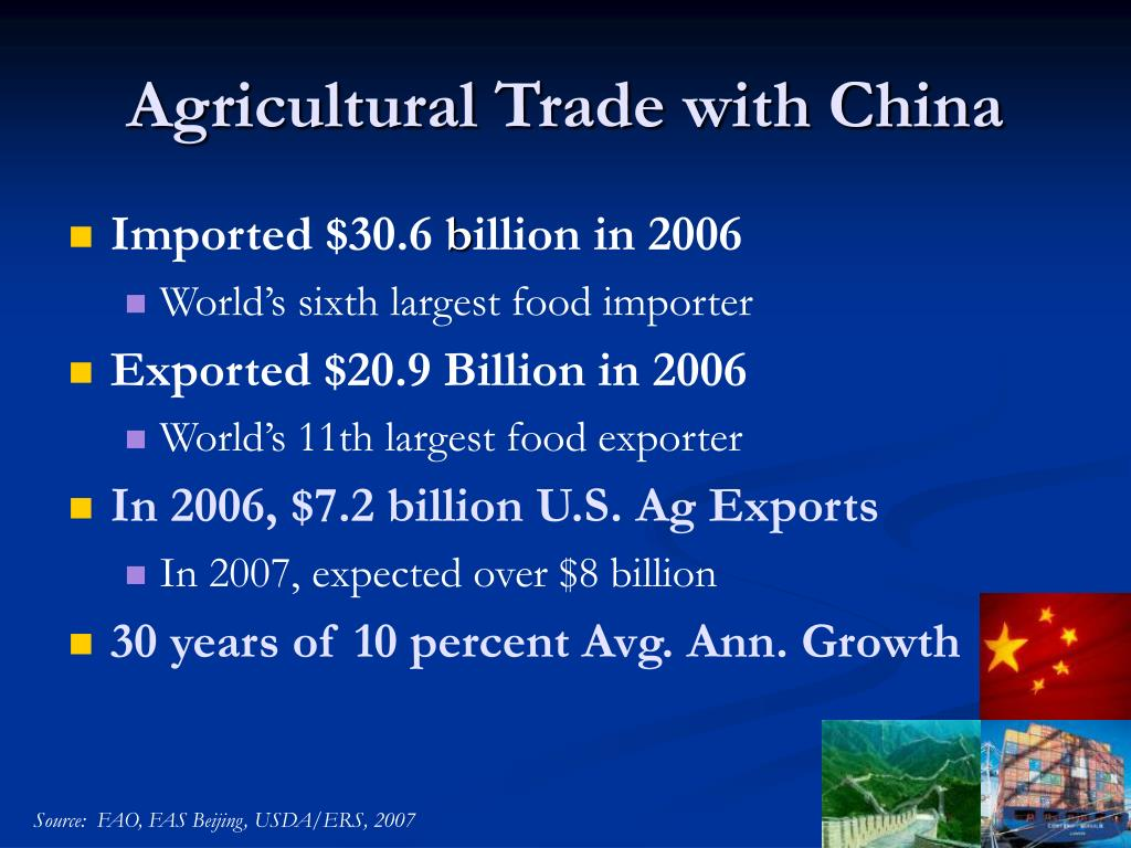 Agricultural Trade with China