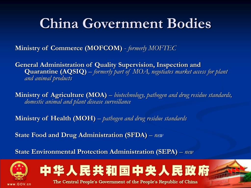 China Government Bodies