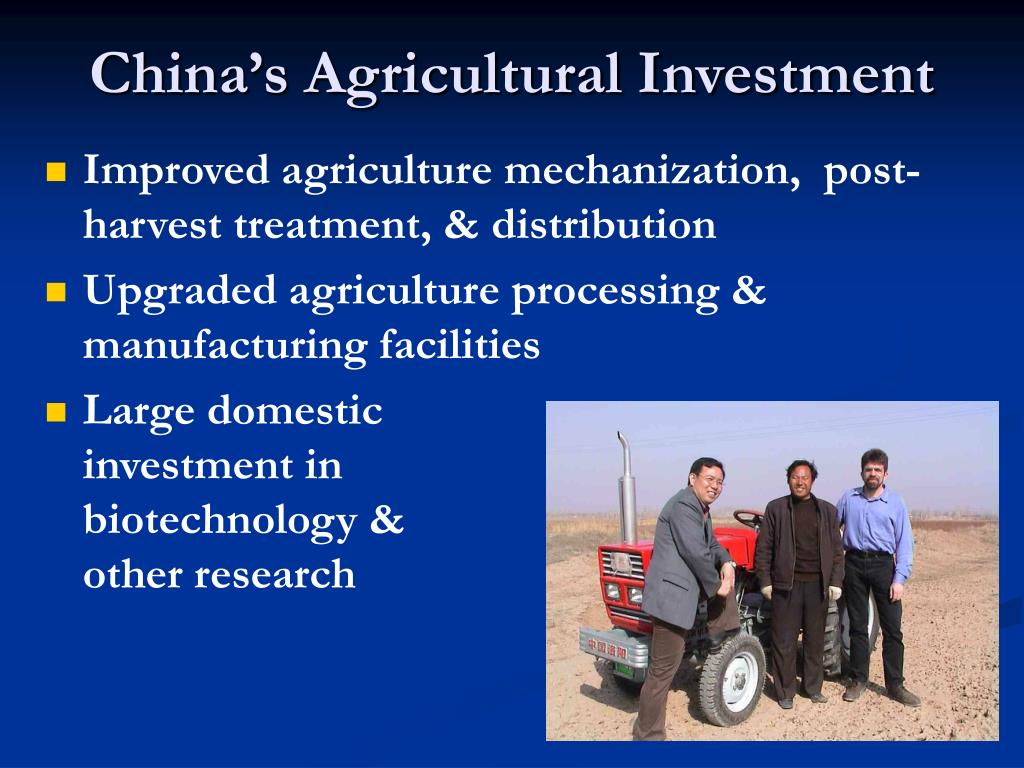 China's Agricultural Investment