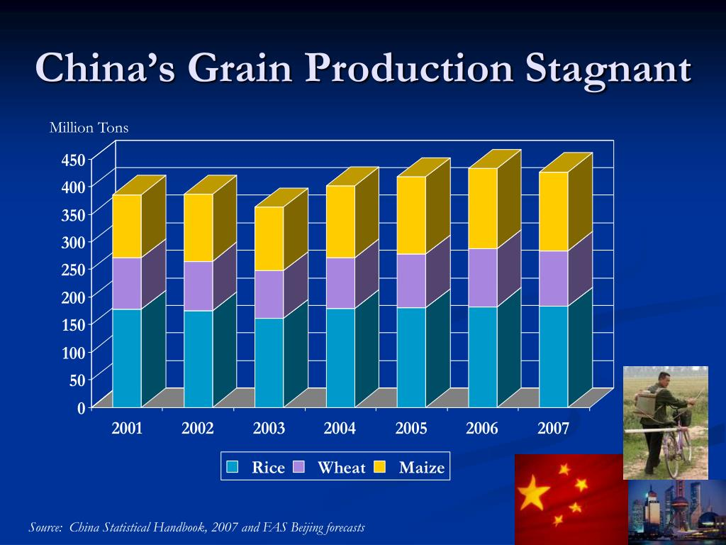 China's Grain Production Stagnant