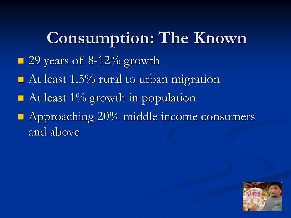 Consumption: The Known