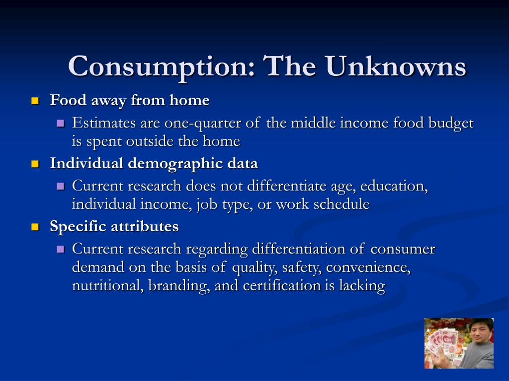 Consumption: The Unknowns