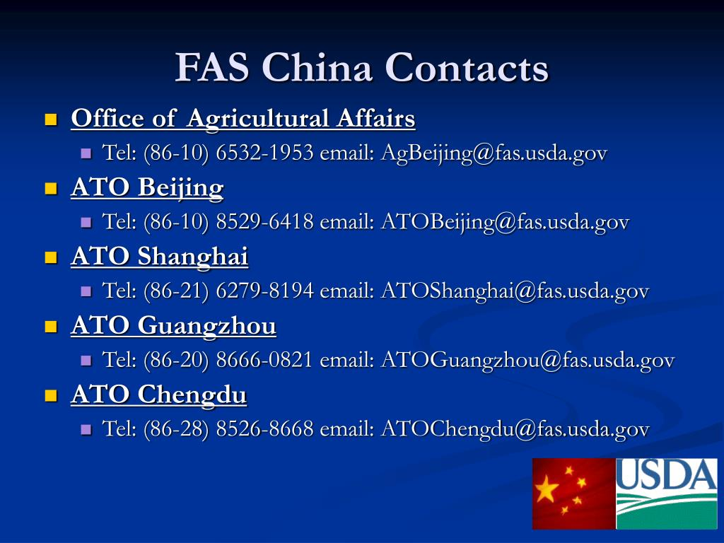 FAS China Contacts