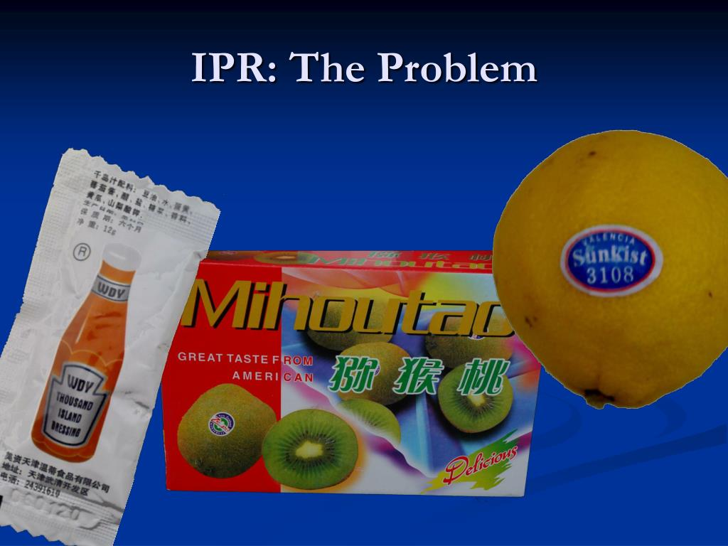 IPR: The Problem