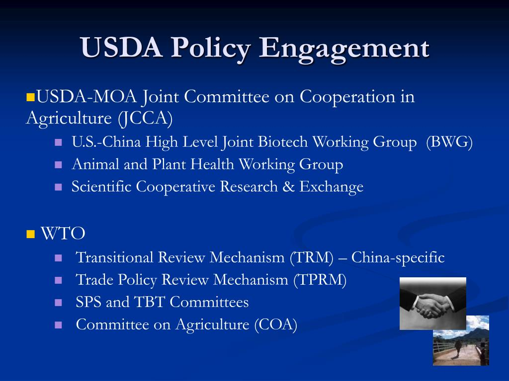USDA Policy Engagement