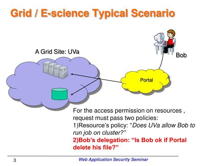 Grid e science typical scenario3