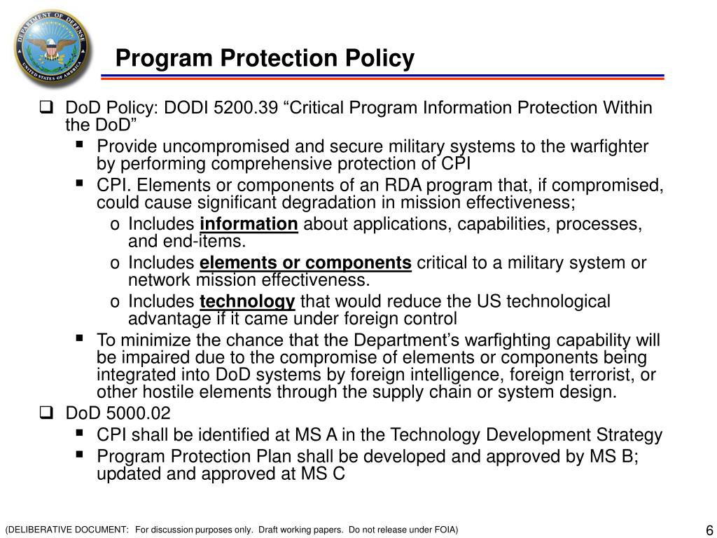 Program Protection Policy