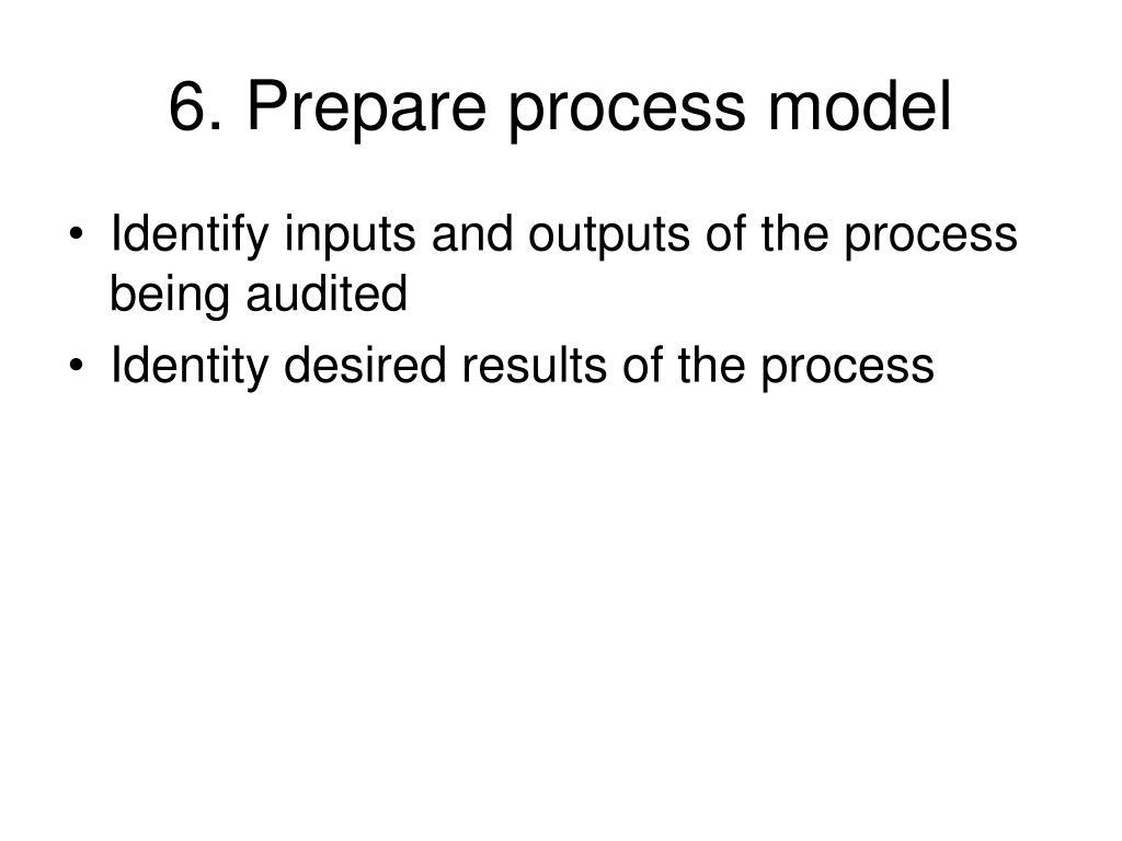 6. Prepare process model