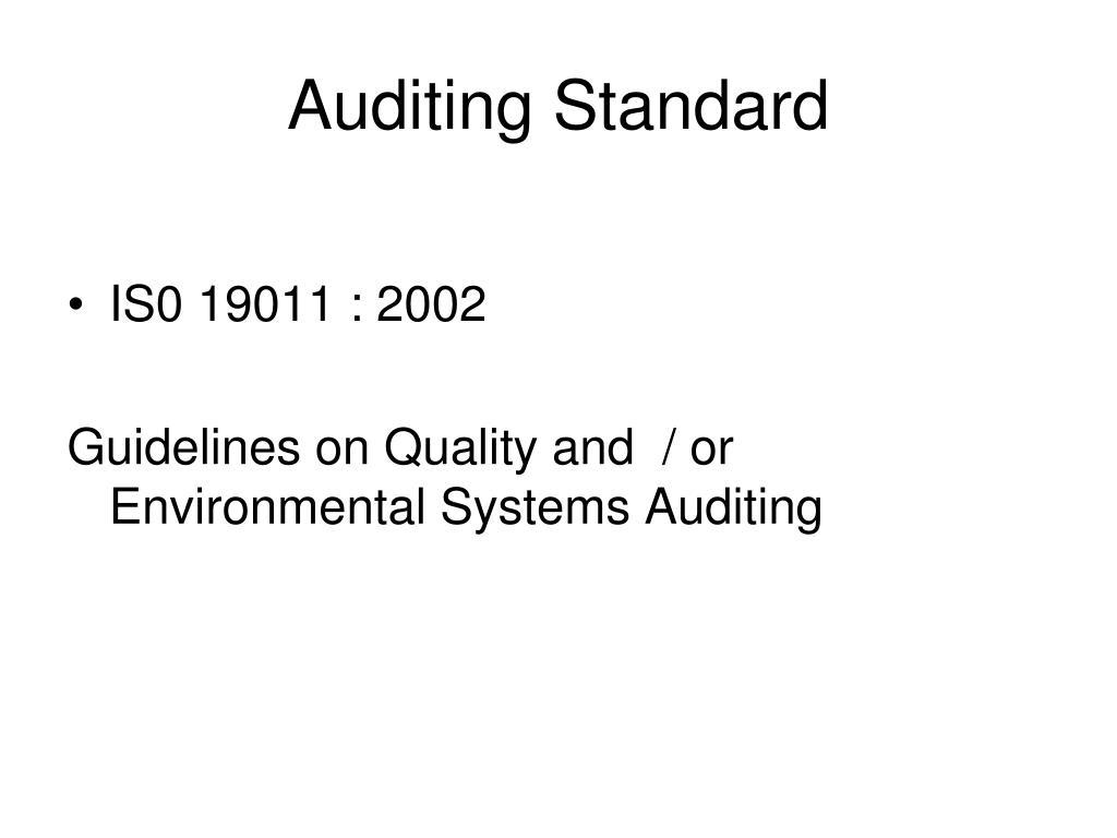 Auditing Standard