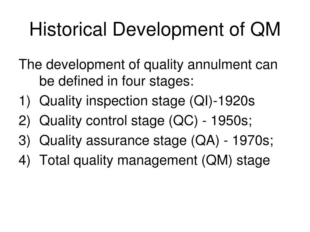 Historical Development of QM