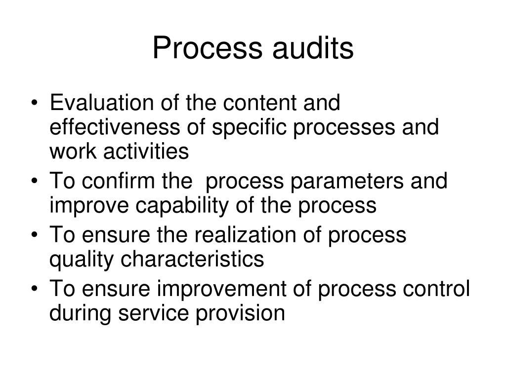 Process audits
