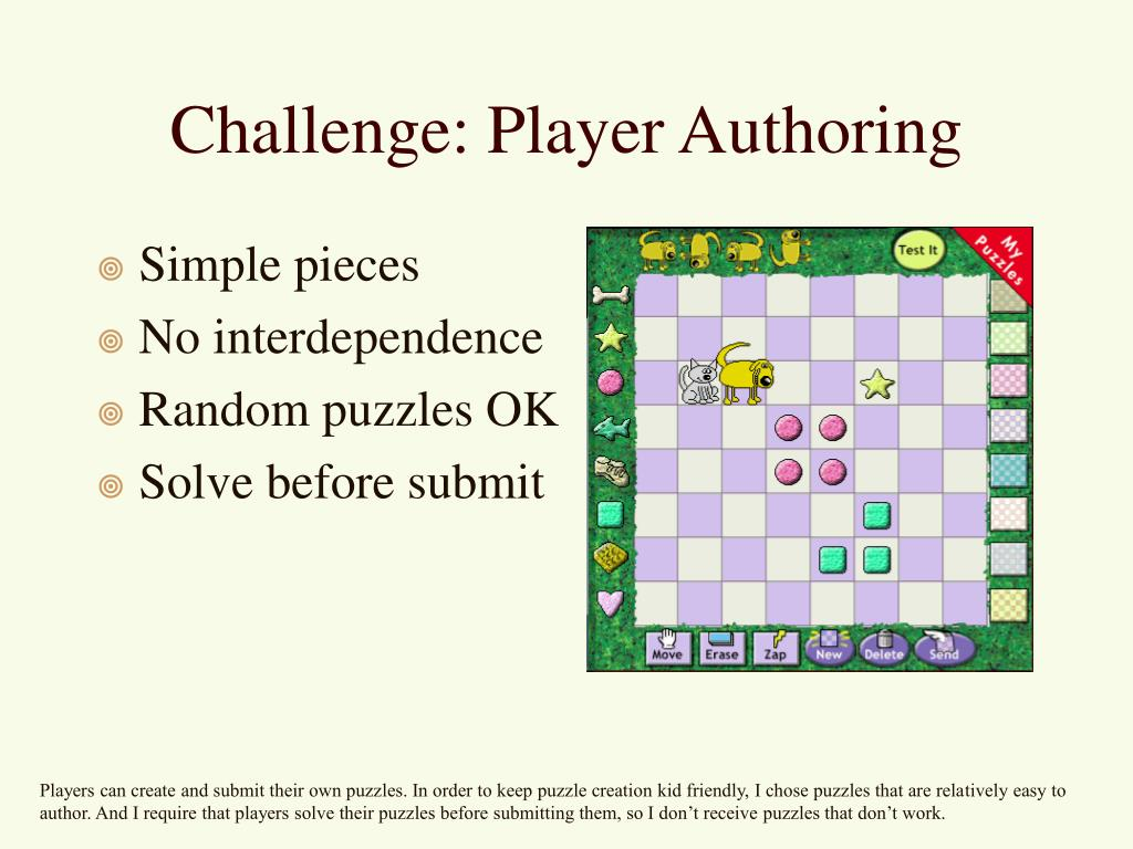 Challenge: Player Authoring