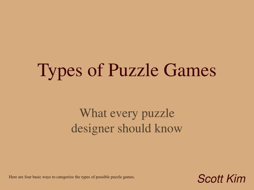 Types of Puzzle Games