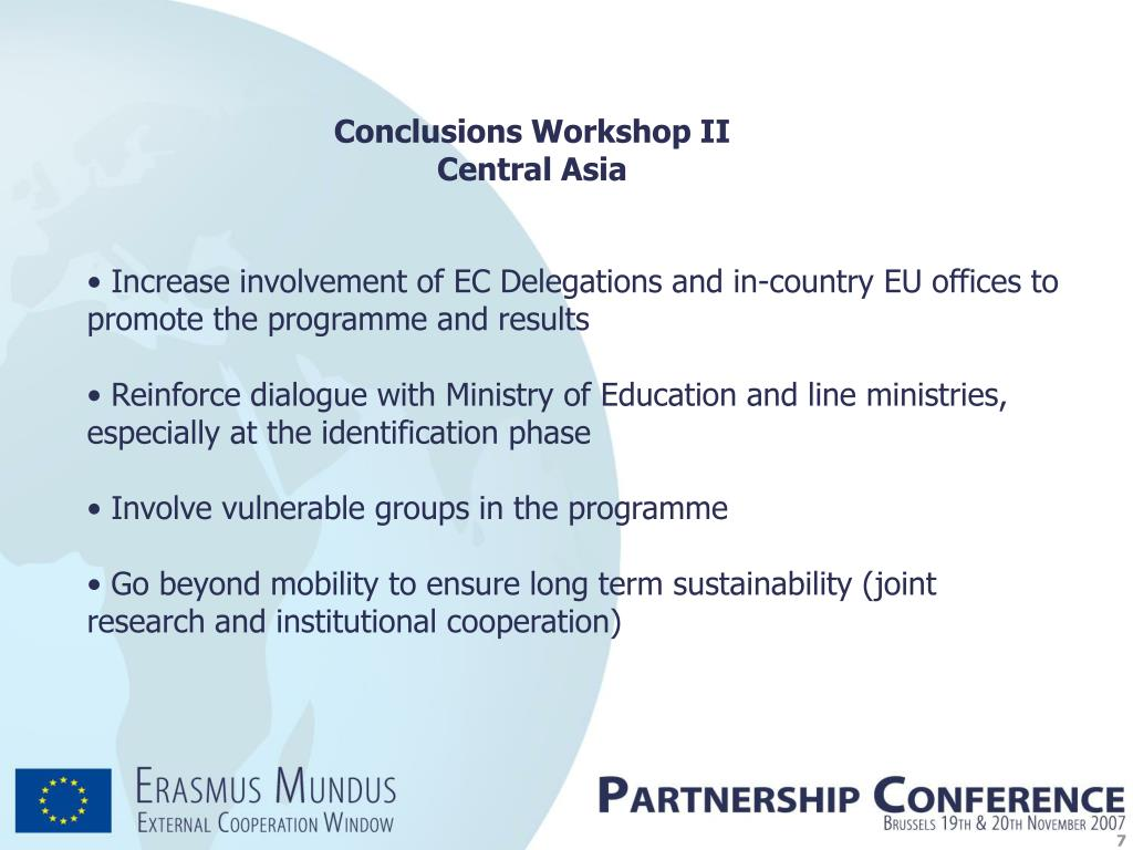 Conclusions Workshop II