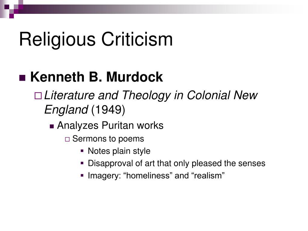 Religious Criticism
