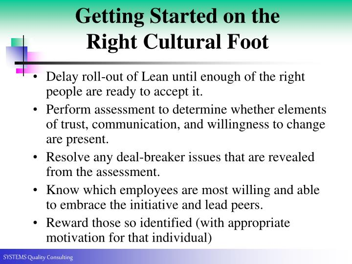 Getting Started on the Right Cultural Foot
