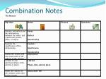 combination notes