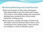 monitoring meaning and comprehension32
