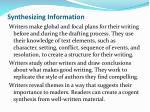 synthesizing information