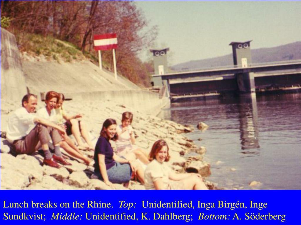 Lunch breaks on the Rhine.