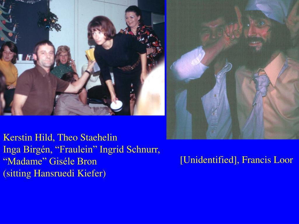 Kerstin Hild, Theo Staehelin
