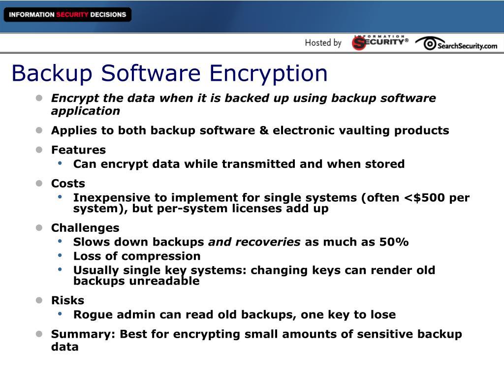 Backup Software Encryption