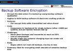 backup software encryption