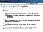 in line hardware encryption