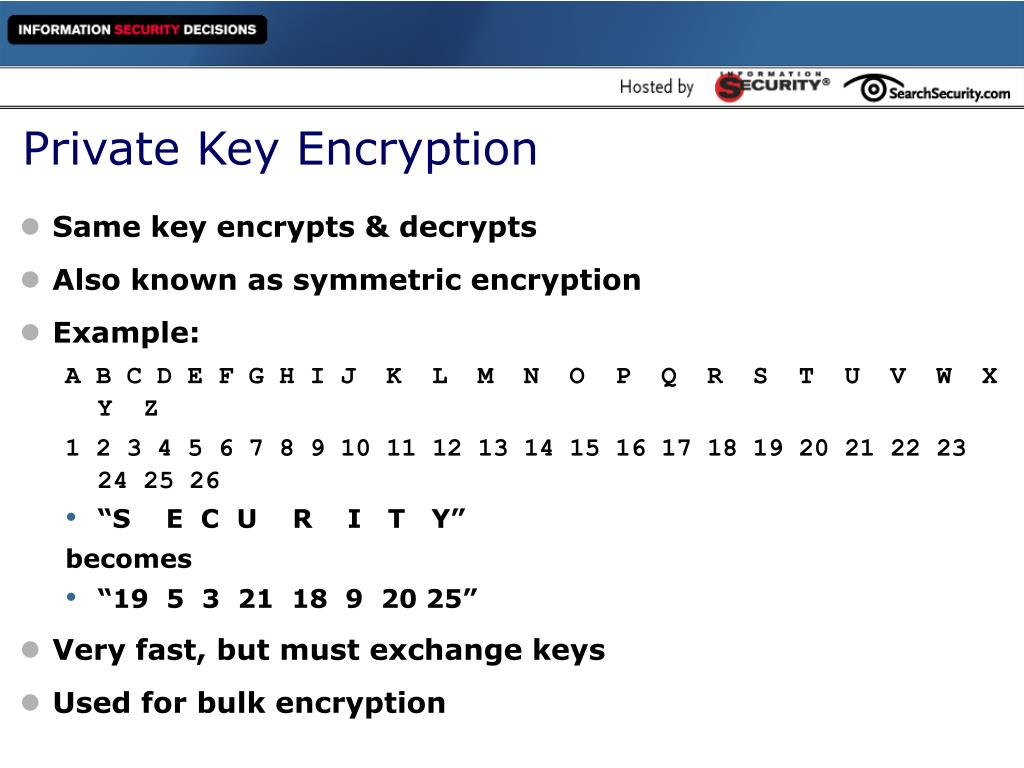 Private Key Encryption