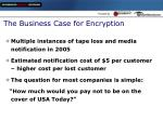 the business case for encryption